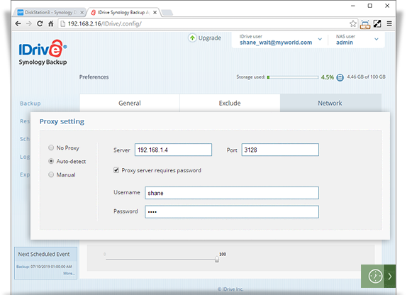 synology proxy setting