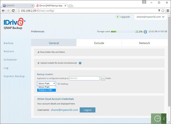 QNAP backup to IDrive® cloud