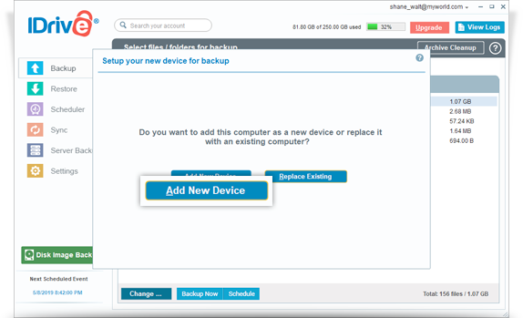 FAQs on online backup via IDrive® Windows application