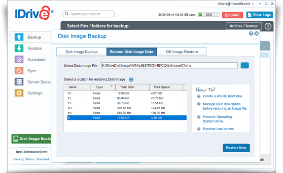 FAQs on Disk Image Backup – IDrive®