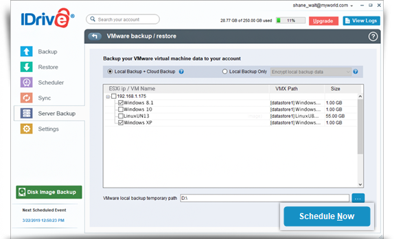 Answers for frequently asked questions on VMWare – IDrive®