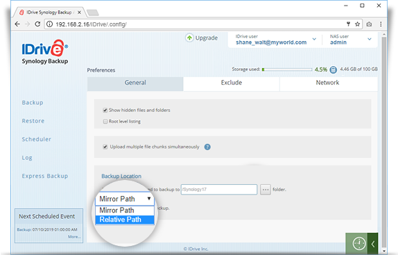 synology mirror path