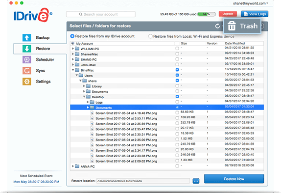 FAQs on online backup or restore via IDrive® Mac application