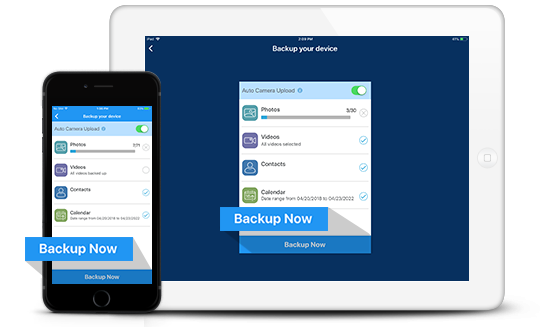 Backup, access, and share via iOS, Android and Windows Phone – IDrive®