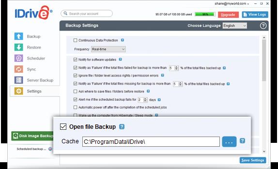 FAQs on online backup via IDrive® Windows application