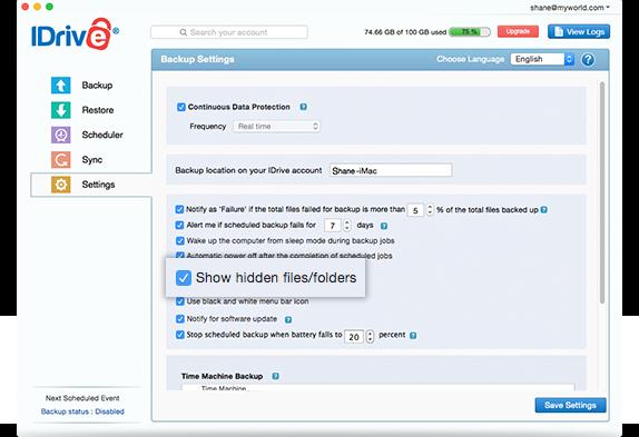 Show hidden files / folders