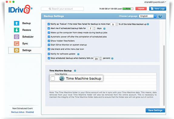 time machine backup applications