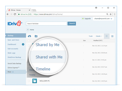 Manage files you've shared