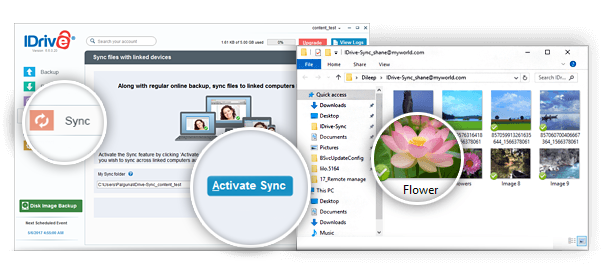 IDrive desktop application